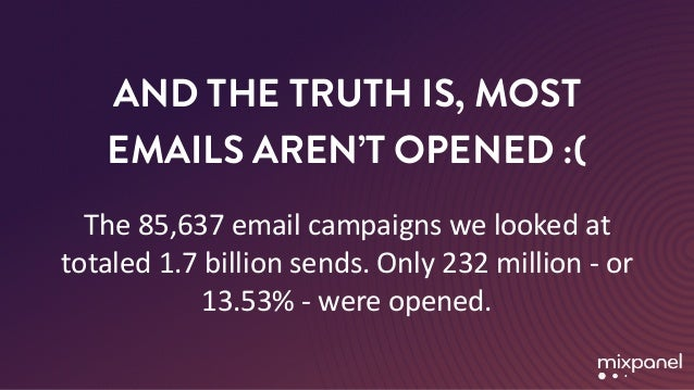 Why do people open emails? Slide 3