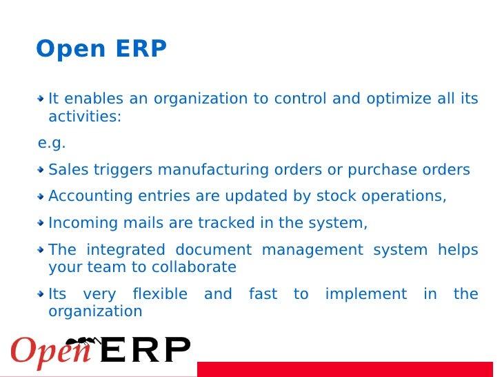Integrate Enterprise with Open Erp Slide 3