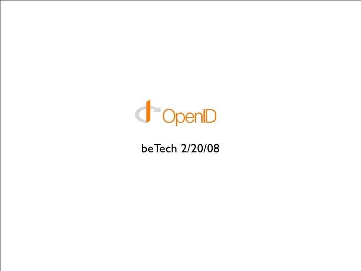 beTech 2/20/08