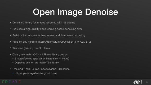 Intel® Open Image Denoise: Optimized CPU Denoising