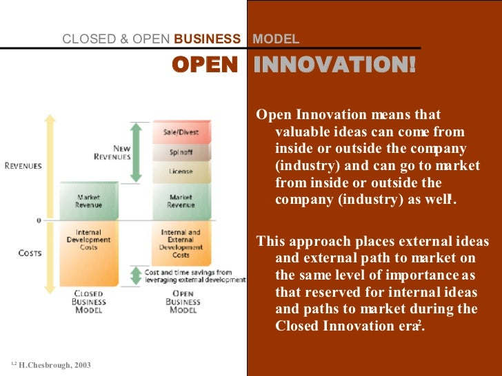 Open Innovation means that valuable ideas can come from inside or outside the company (industry) and can go to market from...