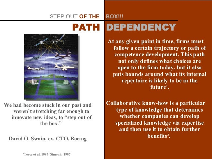 At any given point in time, firms must follow a certain trajectory or path of competence development. This path not only d...