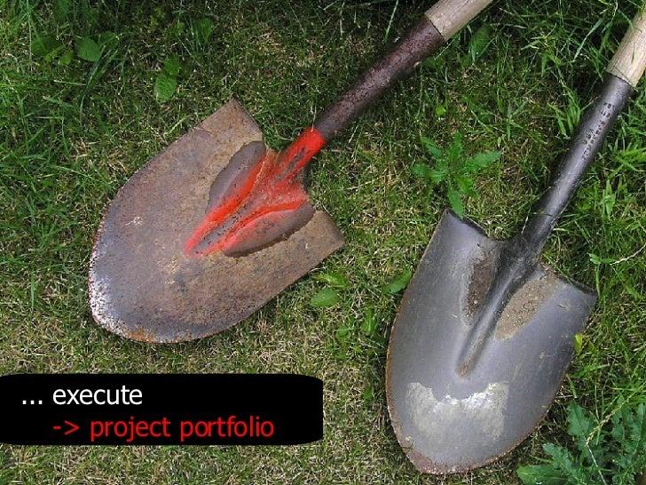 .. . execute -> project portfolio
