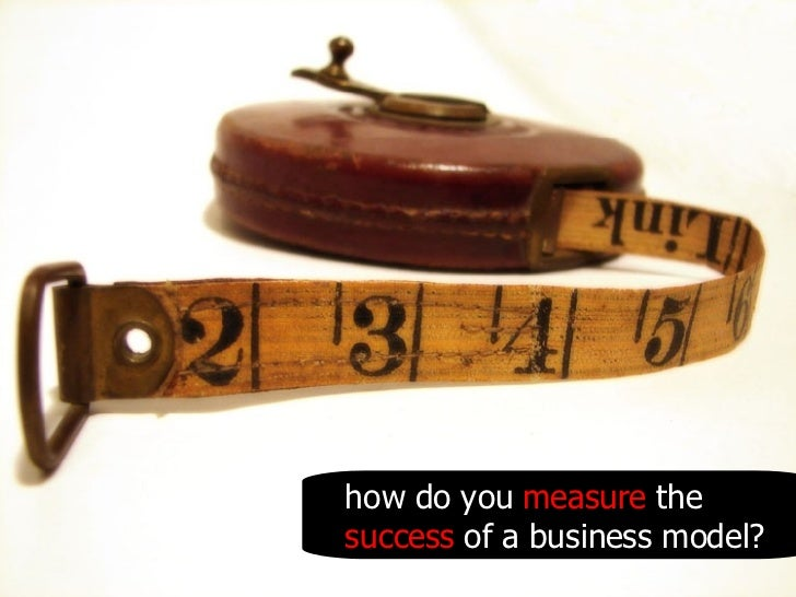 how do you  measure  the  success  of a business model?