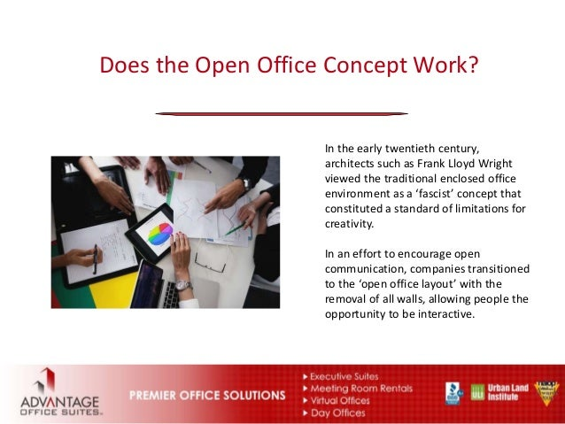 Concept Bad open office concept the the bad and the