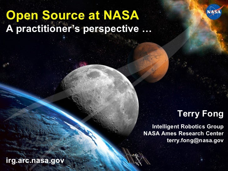 Open Source at NASAA practitioner's perspective …                                                                  Terry F...