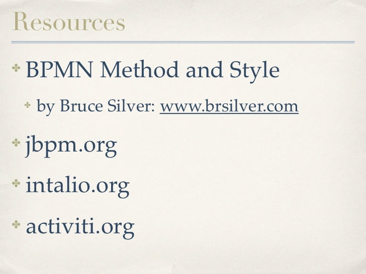 Bruce Silver Bpmn Method And Style Pdf Files