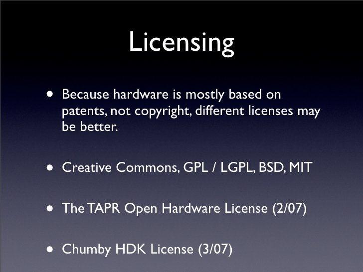 Open Source Hardware (adolescence)