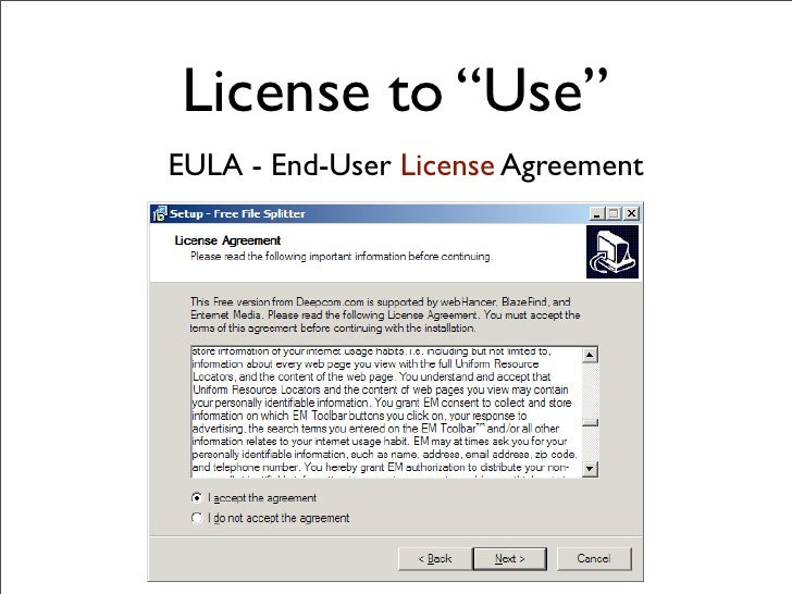 Open source software licensing license to use eula end user license agreement platinumwayz