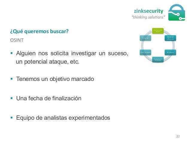 ¿Qué  queremos  buscar?   OSINT   ¿Qué  queremos   buscar?   Selección  de   fuentes  de   informaci...