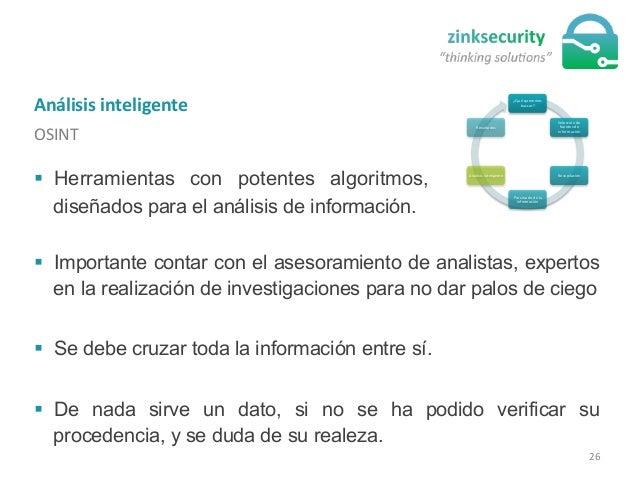 Análisis  inteligente   OSINT   ¿Qué  queremos   buscar?   Selección  de   fuentes  de   información ...