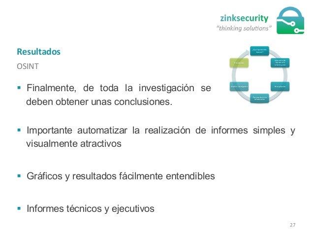 Resultados   OSINT   ¿Qué  queremos   buscar?   Selección  de   fuentes  de   información   Recopilaci...