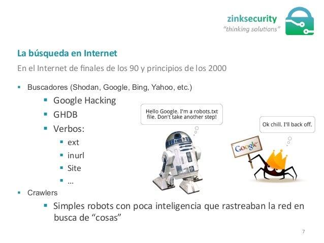 La  búsqueda  en  Internet   En  el  Internet  de  finales  de  los  90  y  principios  de  l...