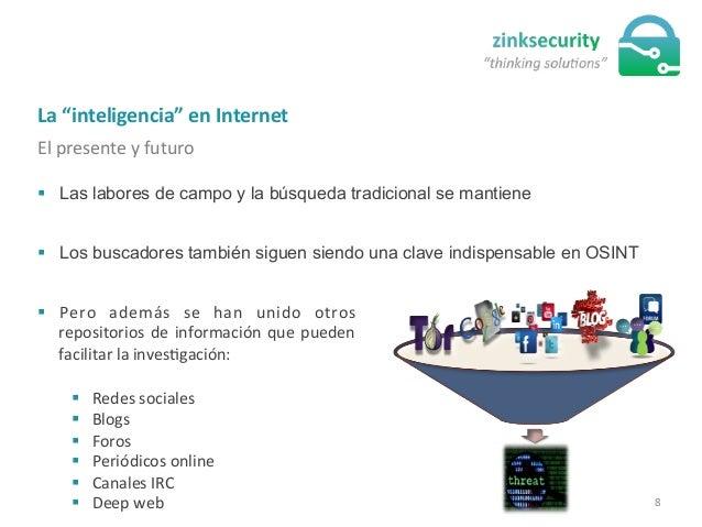 """La  """"inteligencia""""  en  Internet   El  presente  y  futuro   § Las labores de campo y la búsqueda tradic..."""