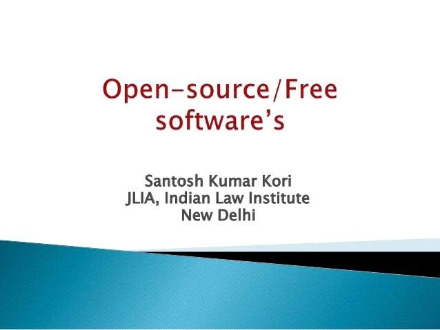 Santosh Kumar Kori JLIA, Indian Law Institute New Delhi