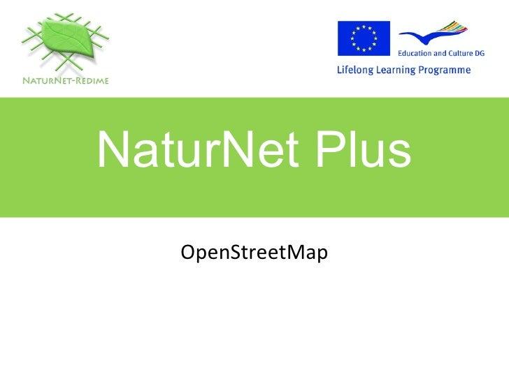 OpenStreetMap NaturNet Plus