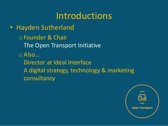Open Transport at MaaS Scotland 2020 Slide 2
