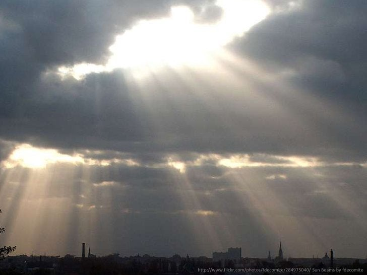 [rays piercing thru cloud]<br />http://www.flickr.com/photos/fdecomite/284975040/ Sun Beams by fdecomite<br />