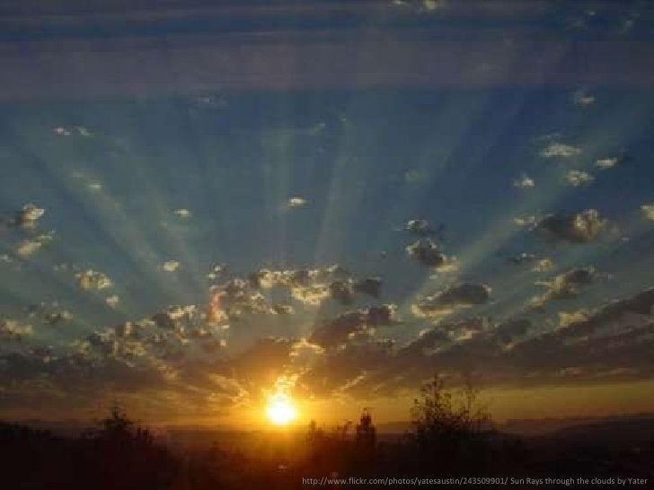 [the sun]<br />http://www.flickr.com/photos/yatesaustin/243509901/ Sun Rays through the clouds by Yater<br />