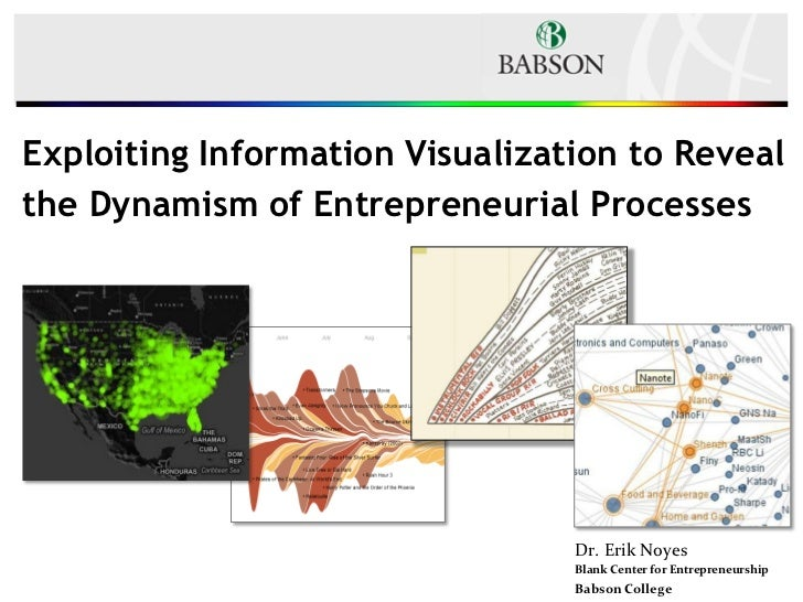 Exploiting Information Visualization to Revealthe Dynamism of Entrepreneurial Processes                                 Dr...