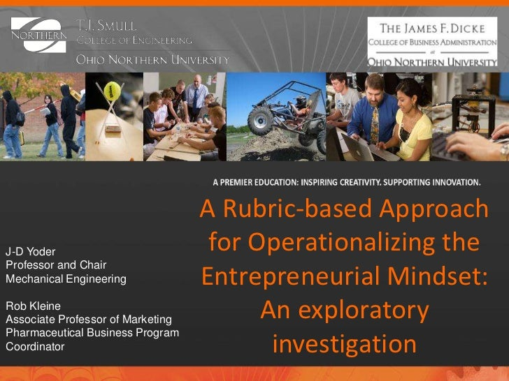 A Rubric-based ApproachJ-D Yoder                           for Operationalizing theProfessor and ChairMechanical Engineeri...