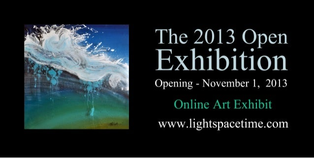 Open 2013 Online Art Exhibition Event Postcard