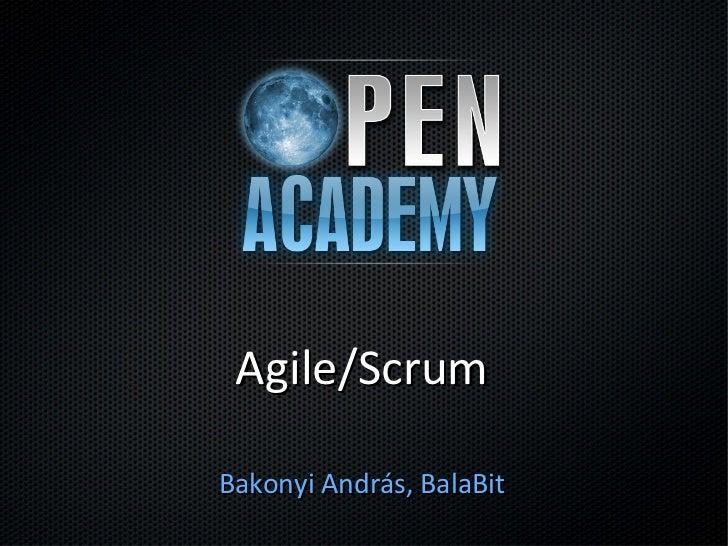 Agile/ScrumBakonyi András, BalaBit
