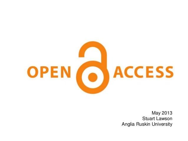 May 2013Stuart LawsonAnglia Ruskin University