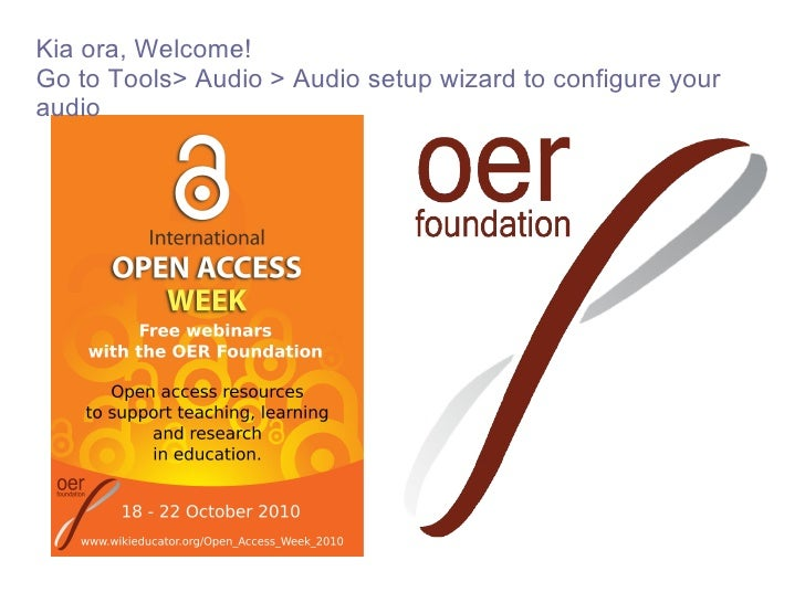 <ul>Kia ora, Welcome! Go to Tools> Audio > Audio setup wizard to configure your audio </ul>