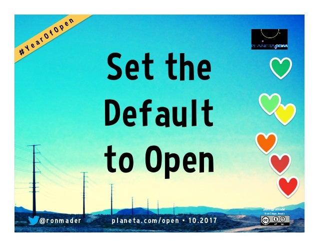 Set the Default to Open @ r o n m a d e r p l a n e t a . c o m / o p e n • 1 0 . 2 0 1 7 photo @ronmader Sloan Canyon, Ne...