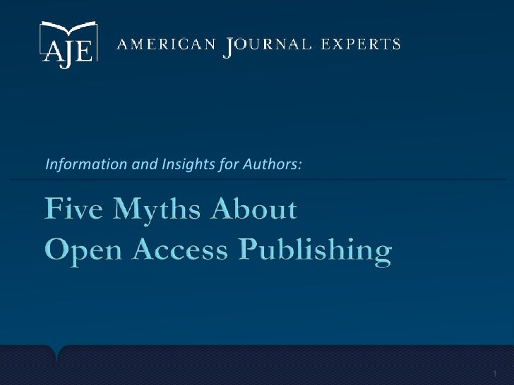 Information and Insights for Authors:                                        1