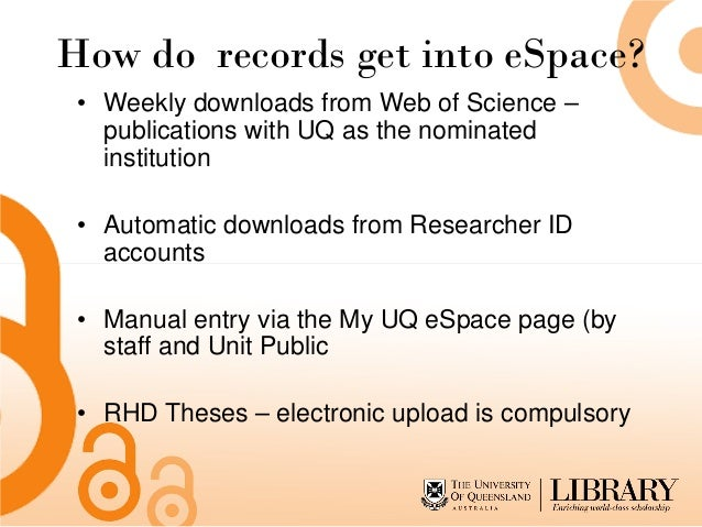 """uq thesis upload How to write an admission essay linking words telemedicine phd thesis  uq espace - university of queensland a thesis  choose """"not applicable"""" and upload."""