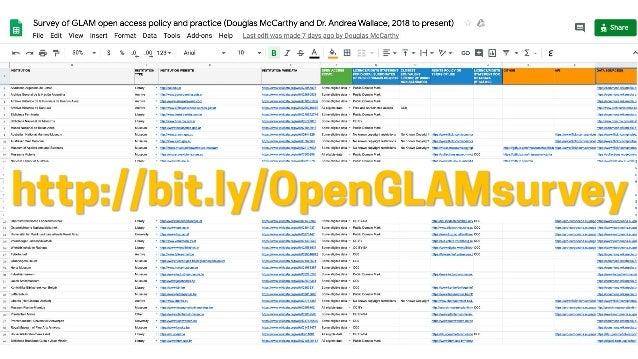 http://bit.ly/OpenGLAMsurvey