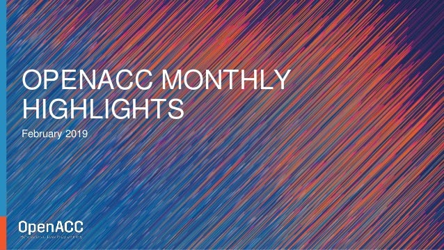 February 2019 OPENACC MONTHLY HIGHLIGHTS
