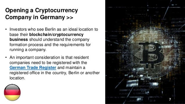 Open a Cryptocurrency Company in Germany
