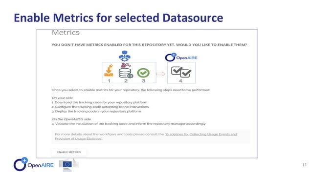 Enable Metrics for selected Datasource 11