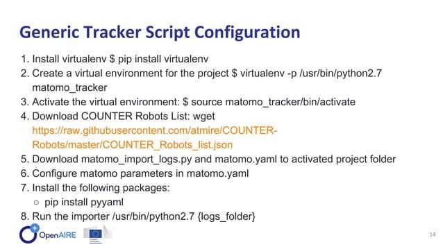1. Install virtualenv $ pip install virtualenv 2. Create a virtual environment for the project $ virtualenv -p /usr/bin/py...