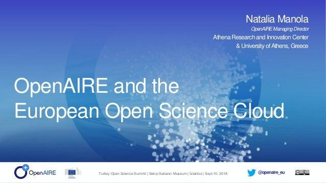 @openaire_euTurkey Open Science Summit | Sakıp Sabancı Museum | İstanbul | Sept 10, 2018 OpenAIRE Implementing Open Scienc...