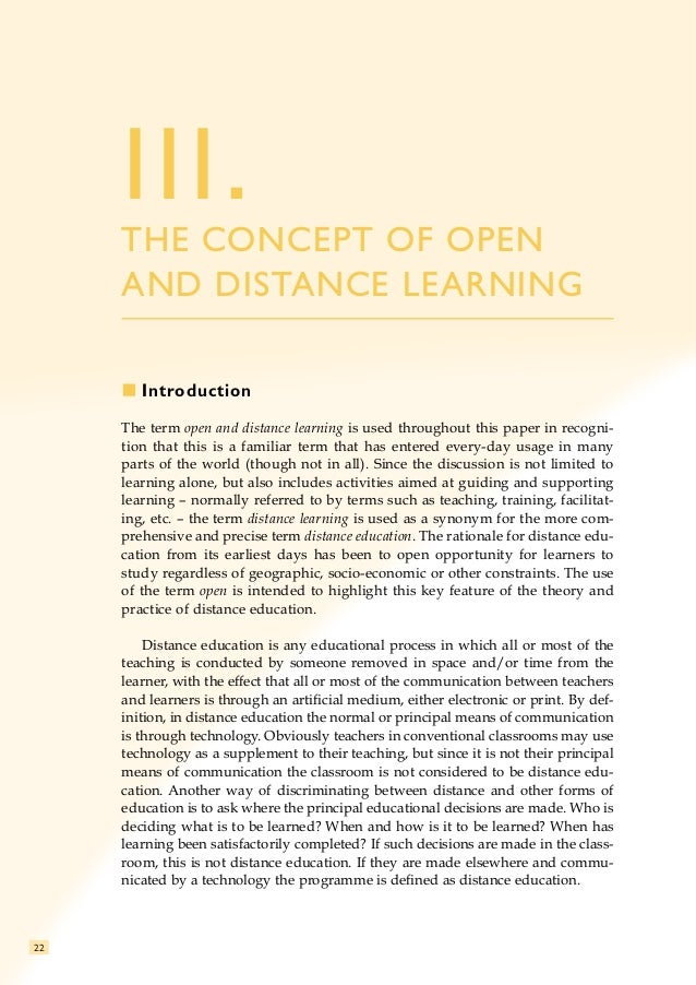 open distance learning Student support services for success in open and distance learning 1 a topical st art-up guide series on emerging topics on educational media and technology.