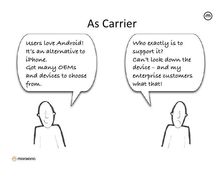 As Carrier                                      Users love Android!!                   Who exactly is toIt's an altern...