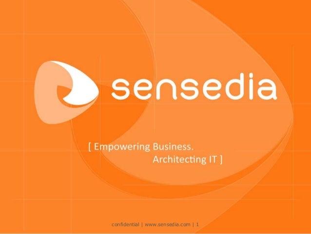confidential | www.sensedia.com | 1