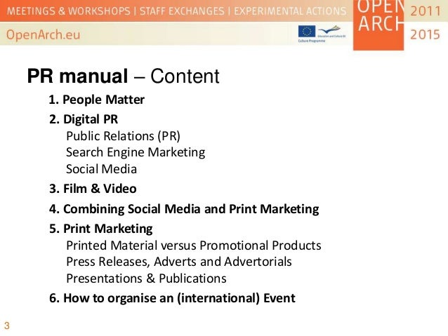 PR and Communication Strategy - OpenArch Conference, Albersdorf 2013 Slide 3