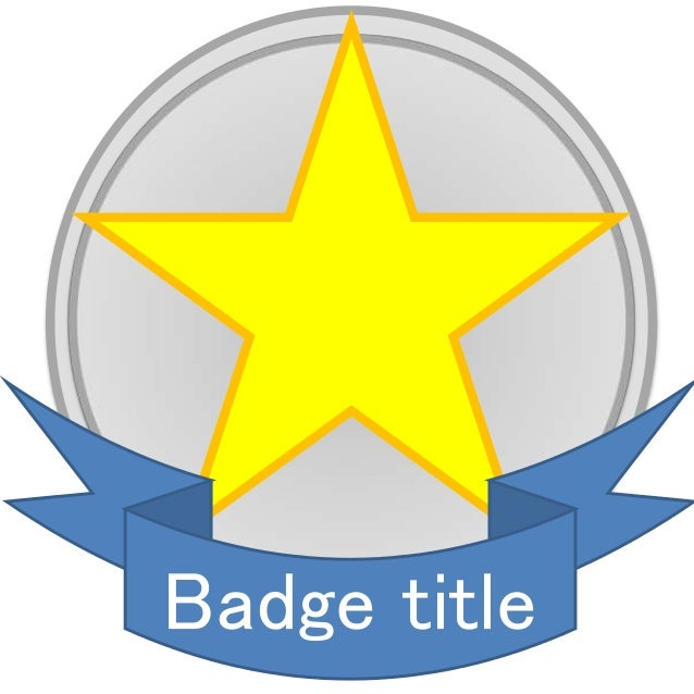 Badge design template