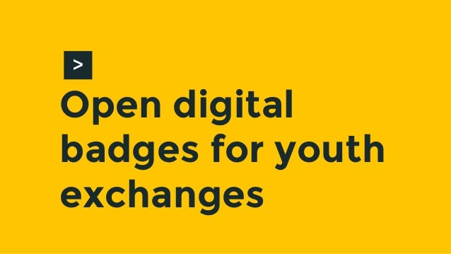 Open digital badges for youth exchanges >