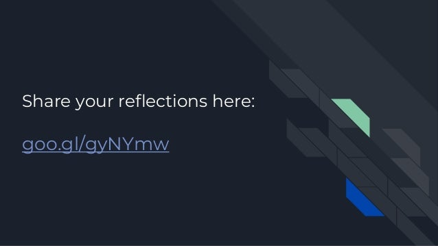 Share your reflections here: goo.gl/gyNYmw