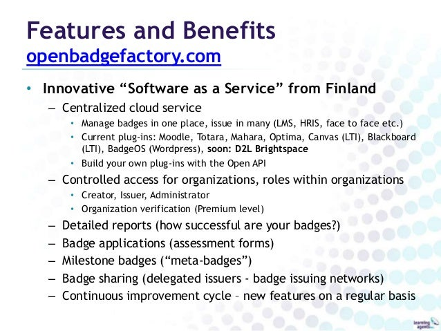 CanCred Factory: A Badging Platform for Canada Slide 3
