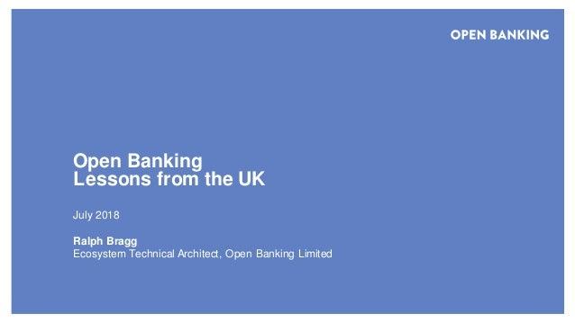Open Banking: Lessons from the UK #fapisum - Japan/UK Open