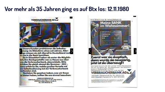 Vor mehr als 35 Jahren ging es auf Btx los: 12.11.1980