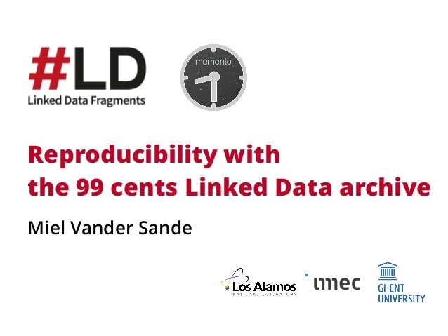 Reproducibility with 