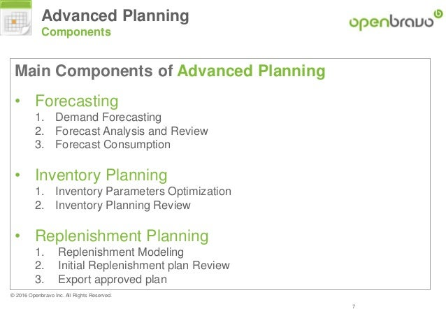 Openbravo And Frepple Advanced Planning Concepts